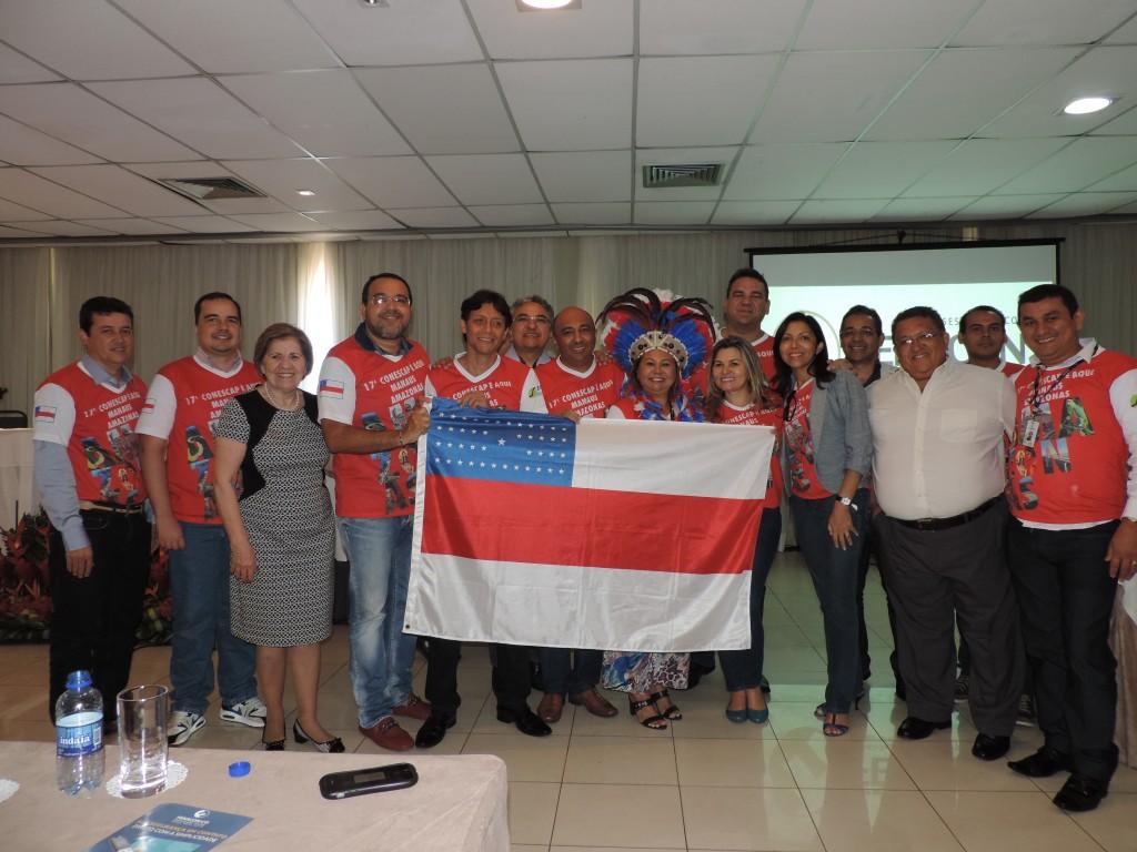 A presidente do Sescon Amazonas e representantes de sindicatos da Região Norte - Foto: Divulgação