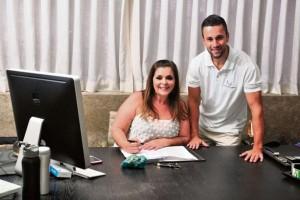 """Márcia Abreu e André Zamite trabalham juntos há 5 anos: """"Ele só não tem asas"""" - Foto: Marcelo Prest"""