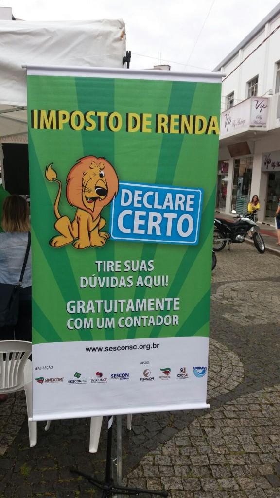 Rio do Sul foi a primeira cidade a realizar o Declare Certo no Estado em 2016 - Foto: Divulgação