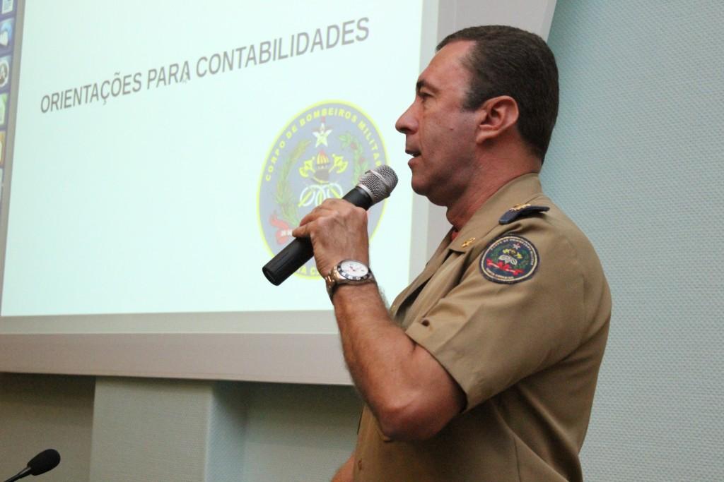 o Chefe do Estado Maior da 1ª Região de Bombeiro Militar, Ten Cel Lázaro Santin.