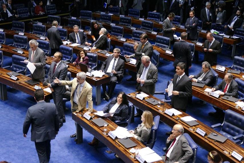 Plenário do Senado durante a votação da ampliação de prazo do Cadastro Ambiental Rural/ Roque de Sá/Agência Senad