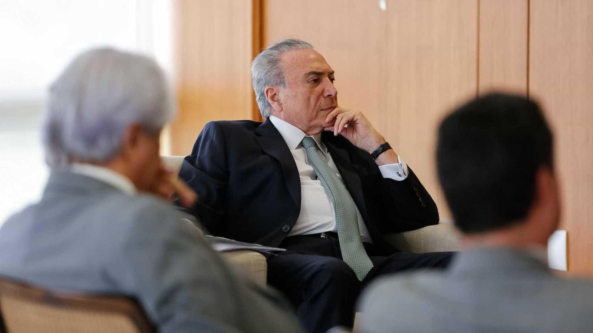 Temer afirma que governo criou condições para queda dos juros